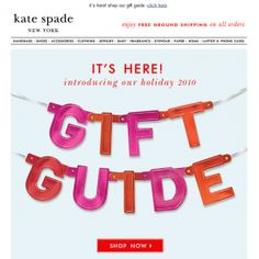 Jcrew Holiday Gift Guide email marketing. Love the creative ...
