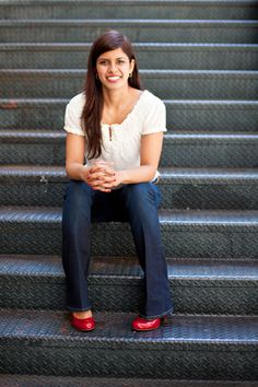 Not So Corporate Headshot. Photo by Portraits To The People. #headshot #not-so-corporate headshot #San Francisco #smile #photography #business headshot #woman #portrait #red shoes