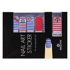 Tint 14PCS Nail Art Stickers Pure Color Glitter Powder Series Sailor's Striped Shirt >>> Learn more by visiting the image link.