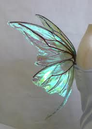 Luminous turquoise butterfly.