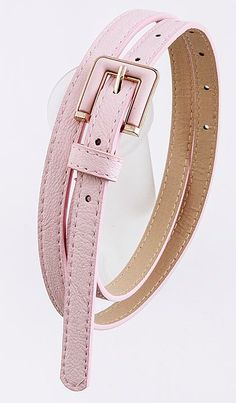 Uniform Colored Belts come in pink, orange, or mint! Skinny belts are in!!! So SexyModest fabulous! http://www.sexymodest.com/products/thin-colored-belt #modest #skinnybelt