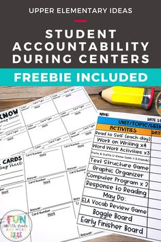 This post will help you keep your students accountable during centers with these great ideas! Learn some great tips for being successful with centers and keeping your students on task.  Find a freebie for recording sheets!  Other great game ideas for engaging your students and keeping them on task! Help Teaching, Teaching Reading, Fun Learning, Teaching Resources, Middle School Classroom, Math Classroom, Classroom Incentives, Classroom Management, Teaching Calendar