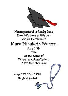 graduation Party Invitations - medical