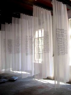 Billowing Fabric Drapes – The Lane – – Design Bühnen Design, Display Design, Exhibition Display, Exhibition Space, Interaction Design, Fabric Installation, Brick Works, Draped Fabric, Stage Design