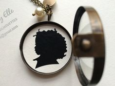 Mother's Day One Shadow Box Locket Pendant by SilhouettesbyChloe