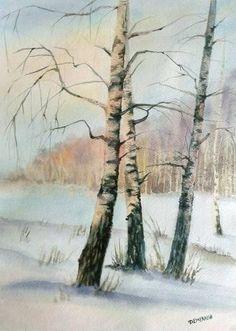 Картины (живопись) : Зимний пейзаж