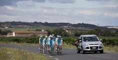 Tour leader Nibali: A 'flag-bearer' against doping The Associated Press - Team Astana with overall leader Vincenzo Nibali of Italy is filmed during a training on the second rest day of the Tour de France cycling race in Lignan-sur-Orb, southern France, Monday, July 21, 2014. (AP Photo/Peter Dejong)