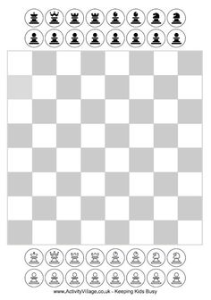 Free Printable Chess for kids - has these pieces and a bigger board with 3D pieces too plus a printout of the rules with diagrams of how each piece moves!