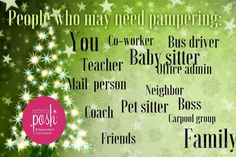 Pamper everyone you know this holiday season! Perfectly Posh makes great, AFFORDABLE gifts for men & women of all ages.