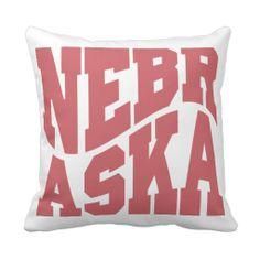 Nebraska Throw Pillows