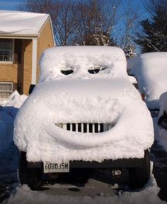 Frosty the snow car