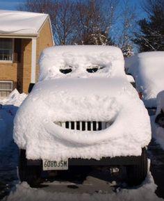Frosty the snow car