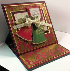 Easel card using beautiful paper from Anna Griffin.