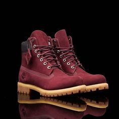 Limited Release Premium Waterproof Boot (Maroon) The Timberland 6 Inch Waterproof Boot is the standard by which all other boots are measured. Often imitated but never duplicated. Available now in-store and online! Link in bio. Tims Boots, Timberland Boots Outfit, Shoe Boots, Timberland 6, Boot Over The Knee, Timbaland Boots, Timberland Waterproof Boots, Yellow Boots, Mens Winter Boots