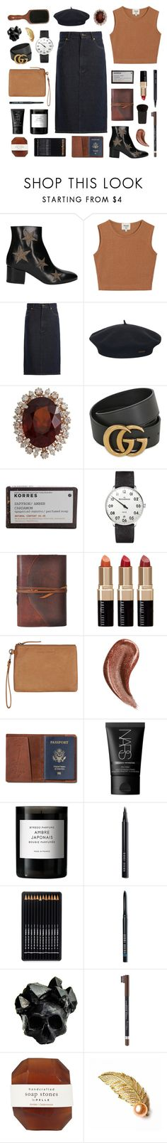 """capricorn"" by typicalgemini ❤ liked on Polyvore featuring Coliàc Martina Grasselli, Samuji, Raey, Element, Gucci, Korres, MeisterSinger, Bobbi Brown Cosmetics, Status Anxiety and TOMS"