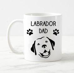 Labrador dad mug, dog mug, dog owner gift, labrador mug, gift for him, best dog dad, funny dog mug, cute dog mug, cute golden retriever mug Funny Dogs, Cute Dogs, Gifts For Dog Owners, Dad Mug, Dog Mom, Gifts For Him, I Shop, Labrador Retriever, Dads