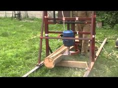 Homemade Bandsaw Mill, Home Made Table Saw, Metal Fabrication Tools, Woodworking Ideas Table, Chainsaw Mill, Wood Lumber, Le Moulin, Workshop, Youtube