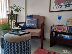 Sihasn: Minimalist functional furniture upholstered in dramatic Indian fabrics! – The Keybunch Decor Blog Indian Interiors, Shop Interiors, Decorating Blogs, Interior Decorating, Interior Designing, Brave, Best Interior Design Blogs, Front Rooms, Indian Home Decor