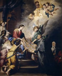 Bartolomé Esteban Murillo - Apparition of the Virgin for Saint Ildefonsus, c. 1660