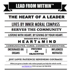 the HEART of a Leader by @Lauren Davison Davison Jane Daskal #leadfromwithin #leadership