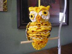 Yo Yo Owl barn horned fabric yoyo stuffed bird wildlife animal