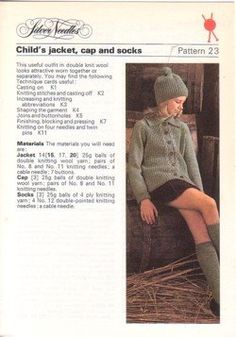 195 Knitting Pattern Lady/'s Chunky Patchwork Sweater 76-102 cm