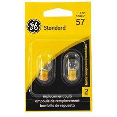 GE 57 - 3w 14v G4.5 Automotive Lamp - 2 Bulbs