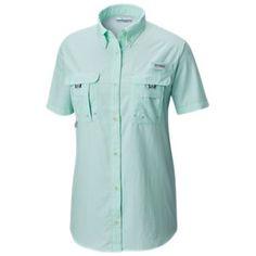 Columbia PFG Bahama Short-Sleeve Shirt for Ladies - Sea Ice - M 497a40b40e482