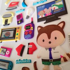 Puffy Stickers / Cute Stickers / Electronics stickers / Store Stickers / Kawaii Stickers / New Stickers / Scrapbook Stickers / Funny Sticker by ldvCraftStuff on Etsy https://www.etsy.com/listing/243262257/puffy-stickers-cute-stickers-electronics