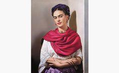 "Nickolas Muray | Frida with Magenta Rebozo, The Classic | h14.5 w11.5"" | color carbon print | edition 1 of 30 | 1939 - $10,000  Mirror..Mirror | Frida Kahlo Exhibition - BENTLEY GALLERY | BENTLEY PROJECTS"