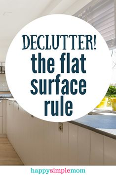 Implement the flat surface clutter rule to kick the clutter to the curb and create a peaceful and clean home. Declutter your home fast with this secret to success! Use this room to work and declutter room by room. Getting Rid Of Clutter, Getting Organized, Organized Home, Organised Life, Organized Teacher, Casa Clean, Clean House, Kitchen Organization, Organization Hacks