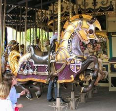 Carousel horses – this one is armored. Carrousel, All The Pretty Horses, Beautiful Horses, Carosel Horse, Horse Armor, Amusement Park Rides, Wooden Horse, Painted Pony, Merry Go Round