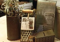 I have a small collection of graters!  Need to find a way to display them.....