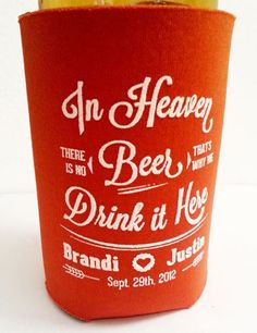 15 Funny Wedding Koozies For The Offbeat Bride Wedpics 1