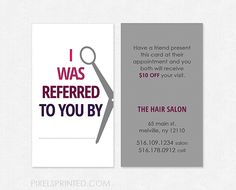 hairstylist referral cards, hair salon referral cards, simple hairstylist… We believe tattooing can be a method that's been used since … Home Hair Salons, Home Salon, Salon Promotions, Salon Business, Bakery Business, Massage Business, Beauty Business Cards, Referral Cards, Business Hairstyles