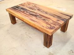 Griffin Wood Art Pecky Cypress Coffee Table