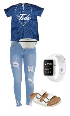 """Untitled #65"" by lillayna on Polyvore featuring Birkenstock, T-shirt & Jeans and Gucci"