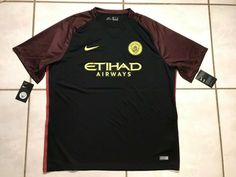 NWT NIKE Manchester City 2016 Away Jersey Men's 2XL  | eBay Manchester City, Nike, Mens Tops, Ebay, Fashion, La Mode, Fashion Illustrations, Fashion Models