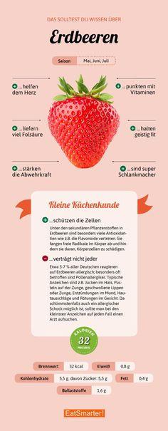 Darum sind Erdbeeren so gesund | eatsmarter.de #erdbeeren #infografik #eatsmarter