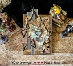 Mixed media retro card by Maria Lillepruun