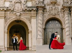 Balboa Park Engagement Session - Engagement session at San Diego's Balboa Park, Red dress. By Jason Burns Photography. Formal Engagement Photos, Engagement Dresses, Engagement Pictures, Engagement Shoots, Burns Photography, San Diego Wedding Photographer, Engagement Photo Inspiration, San Diego Balboa Park, Valentine Theme