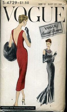 Yes to the red dress! Love the tea length dress. 1940s Vintage Vogue Pattern