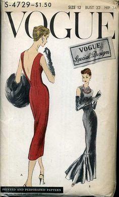 1940s Vintage Vogue Pattern