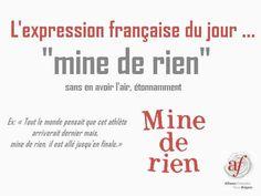Mine de rien - French expression