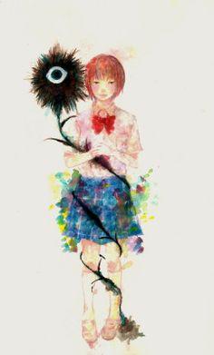 Aku no hana Collages, Manga Anime, Anime Art, The Flowers Of Evil, Horror, Creepy, Fan Art, Artwork, Painting