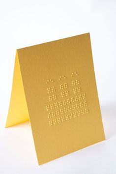 """// Cards that you can feel! // Embossed pattern Braille message inside reads: """"Happy Birthday!"""" // Customised Braille message is also available according to the customer. //"""