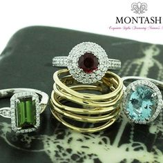 Add a splash of colour with coloured gems! #montashwishlist #montashjewellerydesign