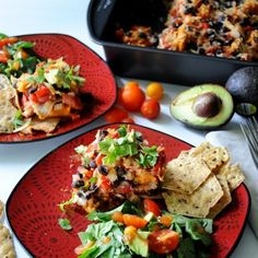 Sweet Potato Black Bean Taco Casserole- a family-friendly meal that's as easy as it is tasty!