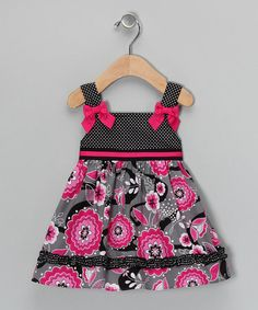gray & pink floral dress on #zulily