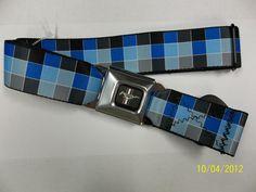 Mustang Blue Seat Belt Belt